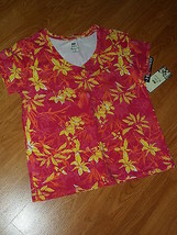 Palm Harbour Knit Shirt Size S Stretch Red Orange Yellow Nwt - $15.89