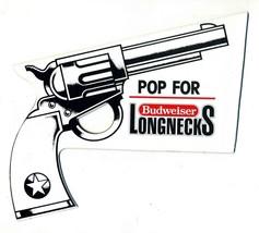 A POP Gun Budweiser Longnecks Paper Toy Paper 6 Shooter Advertising Item - $39.60