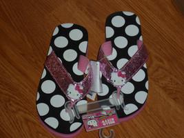 Hello Kitty By Samrio Flip Flops Size 13/1 Sparkly Pink Nwt - $13.99