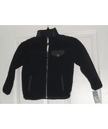 CARTER'S BOYS JACKET SIZE 2T BLACK FURRY LIGHTWEIGHT MSRP: $34.00 NWT - $15.99