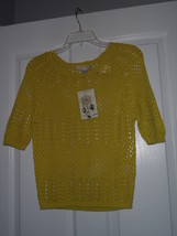 LOVE BY DESIGN COVER UP SWEATER TOP SIZE L LIME GREEN  MSRP:$40.00 NWT - $14.99