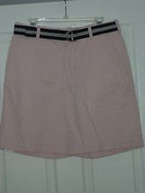 MEN'S IZOD SHORTS SIZE 30 LIGHT PINK BELTED NWT - $19.99