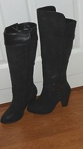 Forever Womans Fashion High Heel Boots Size 6.5M Black Nwt - $38.99