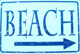 This Way to the Beach Arrow Blue Ocean Water Wa... - $16.95