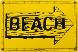 This Way to the Beach Arrow Yellow Ocean Water ... - $16.95