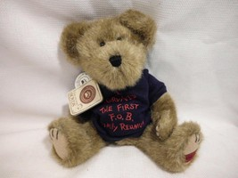 "2001 Boyds Bears T Js Best Dressed Bear Lee Survivedit Stuffed Plush 10"" Toy - $7.99"