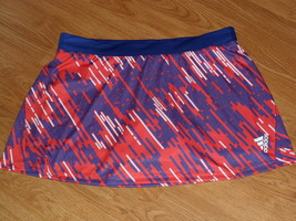 Adadis Climalite Skorts Size M Stretch Orange Blue Golf Tennis Nwt - $20.99
