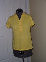 Caribb EAN Joe Knit Top Shirt Size S Yellow Msrp: $34.00 Nwt - $16.99