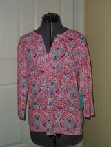Caribb EAN Joe Knit Top Shirt Size S Pink MSRP:$42.00 Nwt - $16.99
