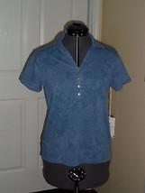 Caribb EAN Joe Knit Top Shirt Size S Blue Msrp: $34.00 Nwt - $16.99