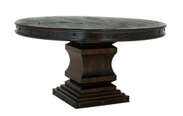 Rustic Gran Hacienda Large Pedestal Table Solid Wood Old World - $1,187.95