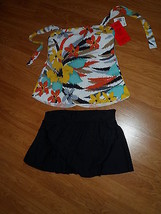 Magicsuit By Miraclesuit Swimsuit Size S Tankini Black Multi MSRP:$156 Nwt - $53.99
