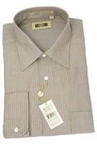 NWT Joseph Abboud Fine Black Broken Line Beige Woven Button Dress Shirt ... - $97.65 CAD