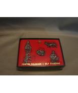 Miniature Pewter Nativity Miniatures Self Standing - 5 Figurines - $4.99