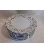 "set of 8 ~ SILVERIE Fine China silver trim floral pattern ""SIV8"" SIDE PL... - $19.98"