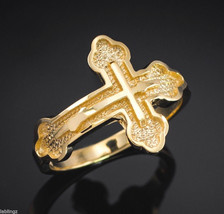 Gold Russian Orthodox Cross Ring (yellow, white, rose gold) - £86.08 GBP+