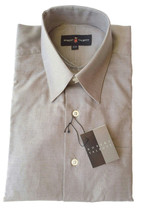 NWT Authentic Robert Talbott Mens Gray French Cuff Fine Button Front Dre... - €106,10 EUR
