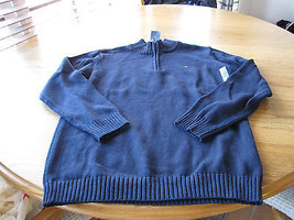 Boys youth XL 20 navy blue Tommy Hilfiger sweater long sleeve zip pull o... - £13.25 GBP
