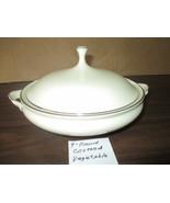 """Lenox Montclair Presidential Eggshell Platinum Rimmed 9"""" Round Covered V... - $275.00"""