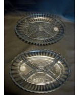 Two Matching Oval Divided Serving Dishs by Crystal Clear  - $14.99