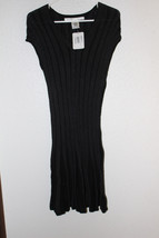 NWOT Max Studion Black Gray Ribbed Dress Size Small - $16.83