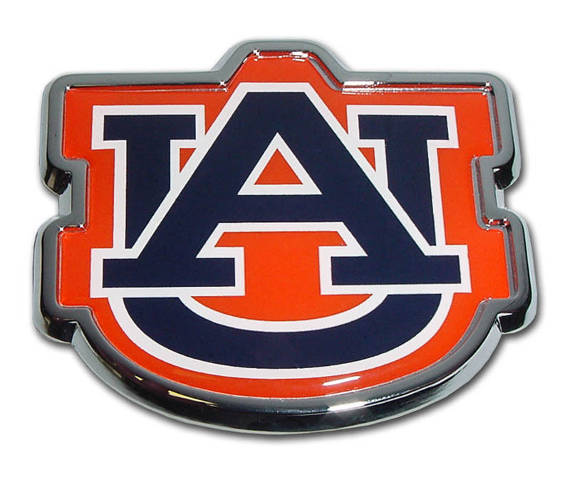 Elektroplate Auburn Tigers Color NCAA Reflective 3D Decal Domed Sticker Emblem