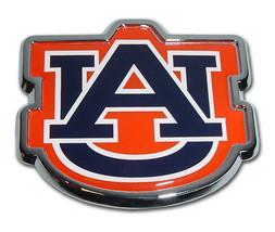 university of auburn tigers AU navy blue color logo ncaa chrome auto car emblem - $28.49