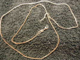 25 INCHES >>> .925 SILVER-PLATED BOX CHAIN  (13)         COMBINED SHIPP - $5.89