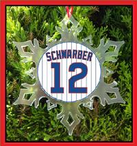 Schwarber Jersey Christmas Ornament - $12.95