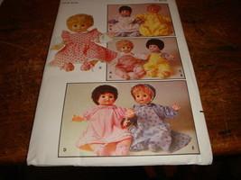 Vtg Butterick Pattern 4144 Doll's Clothing Uncut - $12.19
