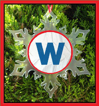 Fly The W Christmas Ornament - Flythew Snowflake Ornament - $12.95