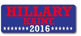 Hillary Kaine 2016 Democrat 3 x 8 Magnet Decal - Perfect For Car or Truc... - $6.99