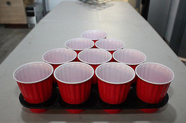 Custom Black ABS Plastic Beer Pong Rack Set College Party Drinking Game,... - £19.24 GBP