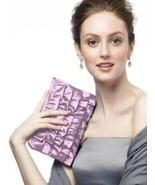 Dessy..Taffeta Ruffle Clutch - Style HBAG6......Hyacinth - $4.94