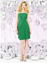 Dessy Social Bridesmaids  8124..Knee-Length, Strapless......Shamrock....... - $27.71