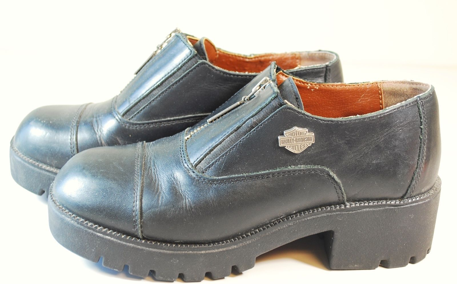7b3fc60c76e0 57. 57. Previous. Harley Davidson Women s Motorcycle Boots Shoes Black  Leather Sz 6.5 Stock  82012