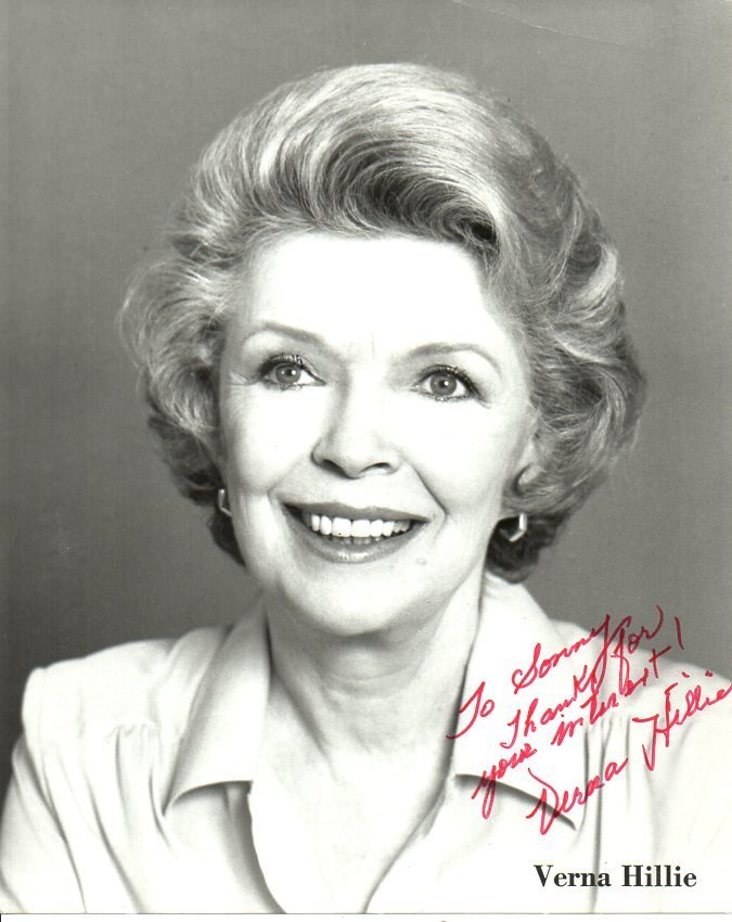Primary image for Verna Hillie (d. 1997) Signed Autographed Glossy 8x10 Photo
