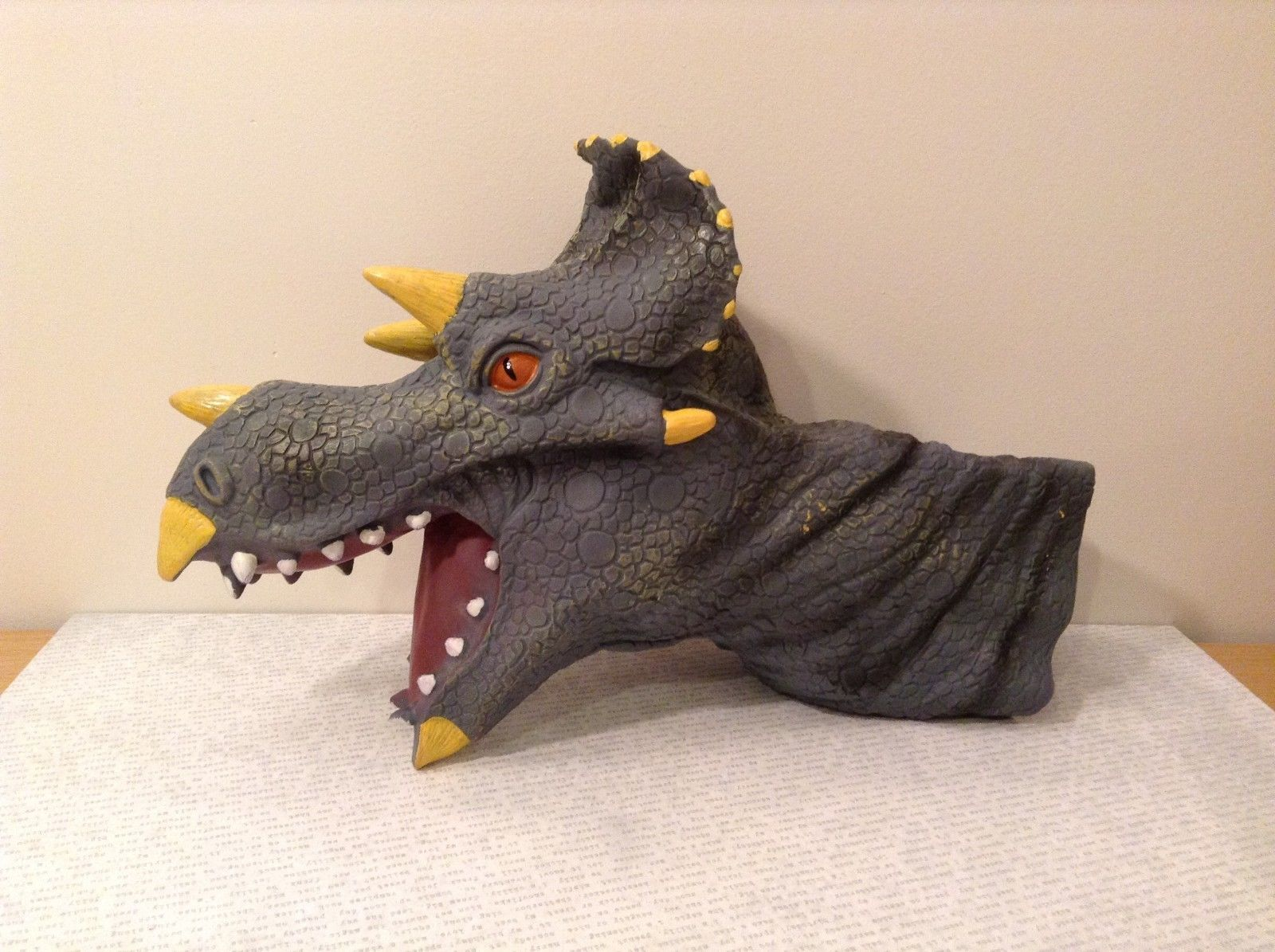 Triceratops hand puppet large Dinosaur
