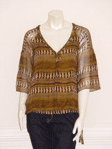 DIANE von FURSTENBERG CHIARA NOMADS WEAVE TOP BLOUSE - US 2 - UK 6 - $85.00