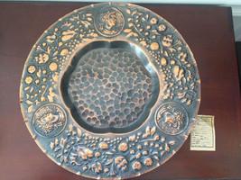 """Vintage Talerz Miedziany Polish Copper Metal Plate 12"""" - $42.65"""