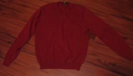 Club Room 100% Estate Cashmere Sweater True Red Sz Medium - €24,02 EUR