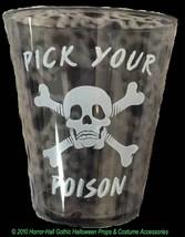 Gothic Pirate-PICK YOUR POISON Skull Crossbones SHOT GLASSES Halloween B... - ₨326.61 INR