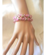 New Pink Exquisite  Charming  Beads Stretch Crackle Beads Bracelet  - $4.99