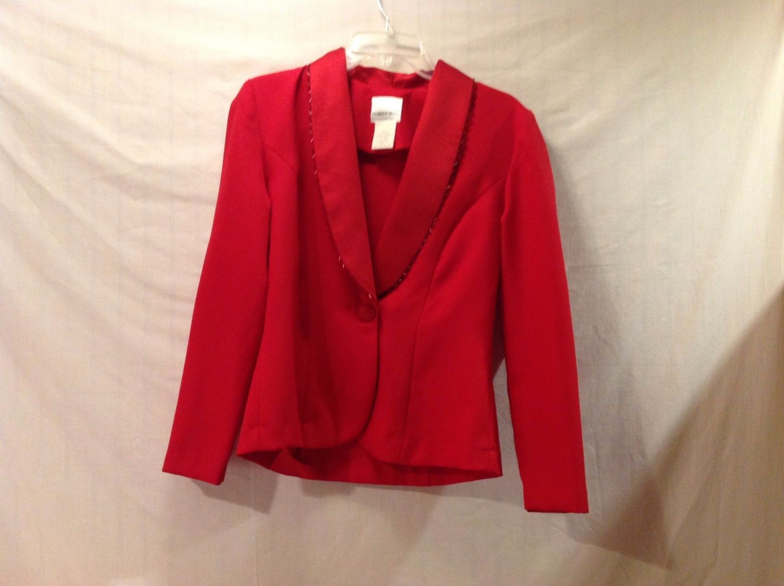 Great Condition Small Bright Red Fashion Bug Blazer Dark Red Embezzlement