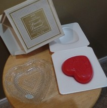 Vintage 1970's Avon HEART & DIAMOND heart Shaped soap Bar-Fostoria glass... - $35.00