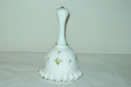 ''fenton'' Bell Signed Spanish Lace Pattern Silver Crest Hand Painted Violets - $42.57