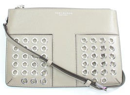 Tory Burch Block T Grommet French Grey Mini Cross Bag Small Handbag - $284.94