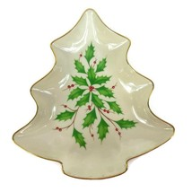 Lenox Dimension Holiday Christmas Tree Candy Dish Holly - $12.36