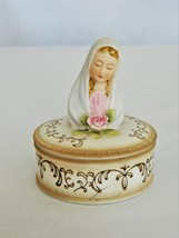 Lefton China Virgin Mary Trinket Box – Porcelain – KW2709 Japan-Collectible - $19.50