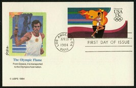 #UX102 13c Olympic Torch, Fleetwood Fdc **Any 4=FREE Shipping** - $1.25